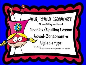 """OG, YouKnow! Orton-Gillingham Based Lesson """"Magic e"""" Prome"""
