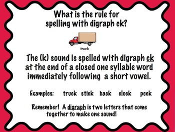 Orton-Gillingham Based Words with c, k or ck  PROMETHEAN Flip Chart