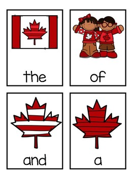 Oh Canada Interactive Sight Word Game