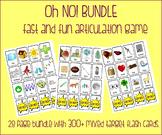 OH NO! Fast Articulation Game BUNDLE {300+ multiple target