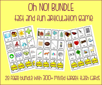 OH NO! Fast Articulation Game growing BUNDLE {130+ multipl
