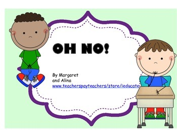 OH NO! Writing Workshop - Problem Solving Game