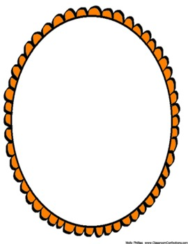 OH-OH Ovals Doodle Borders {Personal or Commercial Use}