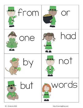 OH Shamrock! ~ First 100 Fry words sight word game