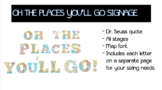 """MAP PRINT SIGNAGE """"OH THE PLACES YOU'LL GO!"""""""