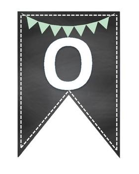 OHANA class family banner teal mint light green pennant pineapple mindset