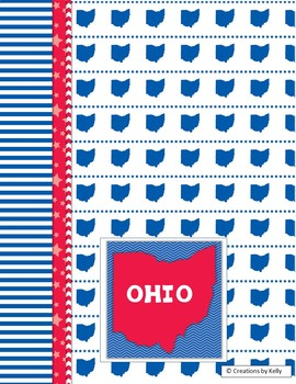 OHIO Data Binder Covers for 6th Grade ELA (Teacher & Student)