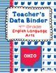 OHIO Data Binder Covers for 4th Grade ELA (Teacher & Student)