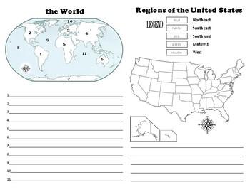 OHIO MAPS unit worksheets