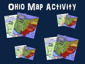 OHIO Map Activity- fun, engaging, follow-along PPT with blank map handouts