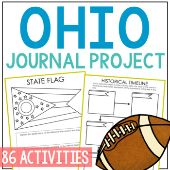 OHIO History Project, Differentiated State Research Journal {EDITABLE}