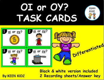 OI OR OY TASK CARDS/WRITE THE ROOM/SCOOT