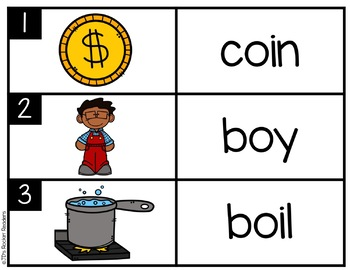 OI/OY Diphthongs Literacy Center Activity