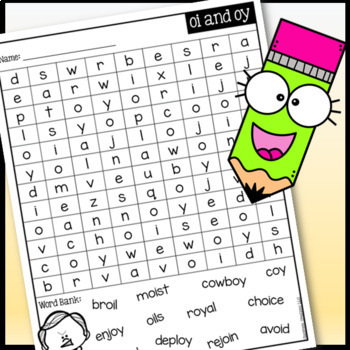 OI & OY Word Search