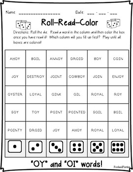 OI OY Word Study & Word Work:  Activities and Printables!