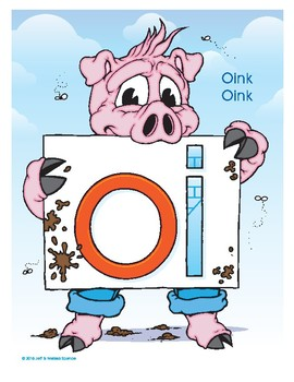 OI (Oink Oink) Word Buddy Poster