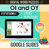 OI and OY - Digital Word Puzzles | Distance Learning | Google Slides