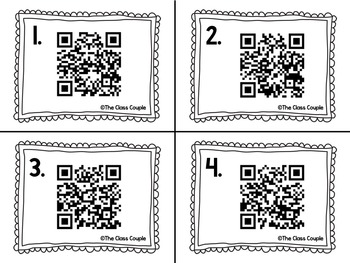 OI and OY QR Code Task Cards