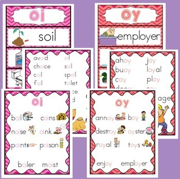 Oi And Oy Diphthongs Posters And Worksheets By Teaching