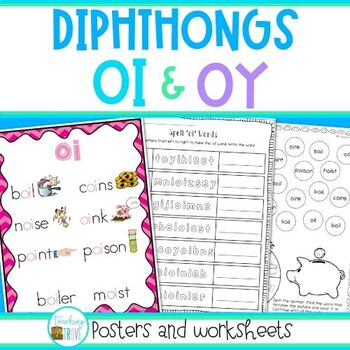 OI and OY diphthongs - posters and worksheets