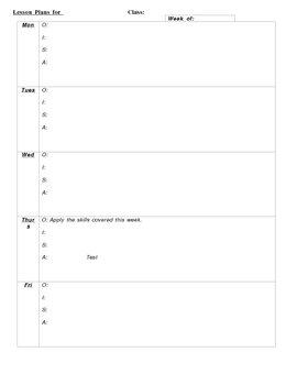 OISA Lesson Plan Form