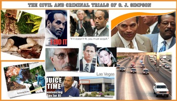 O.J. Simpson ~ FREE POSTER ~ Trials Criminal & Civil