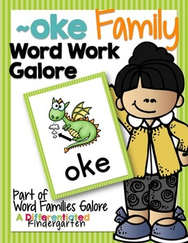 ~OKE Word Work Family Galore-Differentiated and Aligned