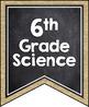 OKLAHOMA SCIENCE STANDARDS BANNERS, 6th GRADE, BURLAP & CHALKBOARD