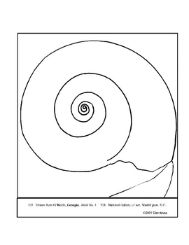 100% free coloring page of Georgia O'Keeffe painting - The ... | 350x270