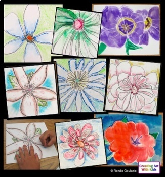 Art Lesson - Flowers Inspired by Georgia O'Keefe