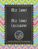 OKie Fonts - Lanky and Lanky Calligraphy