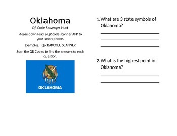 OKlahoma Facts QR Sccavenger Hunt