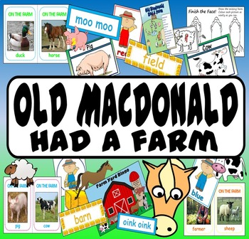 OLD MACDONALD HAD A FARM, LITERACY, READING, EYFS, KS 1-2