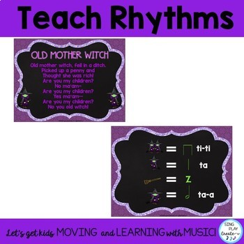 "Halloween Music Lesson: ""Old Mother Witch"" Song & Game with Worksheets"