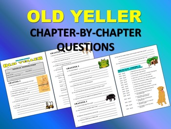 OLD YELLER (Fred Gipson) - Novel Work and Projects
