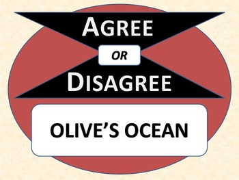OLIVE'S OCEAN - Agree or Disagree Pre-reading Activity