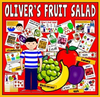 OLIVER'S FRUIT SALAD STORY RESOURCES EYFS KS1 ENGLISH HEALTHY EATING FOOD
