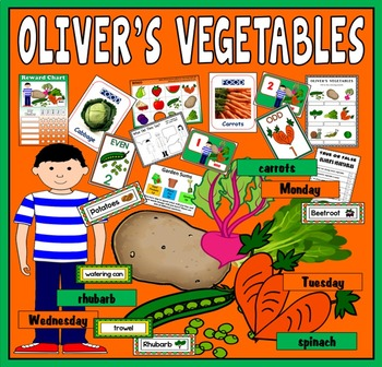 OLIVER'S VEGETABLES STORY RESOURCES EYFS KS1 ENGLISH FOOD