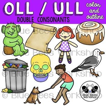 OLL / ULL Word Family Clip Art