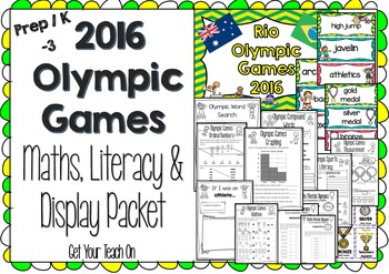 2016 RIO OLYMPIC GAMES K-3 Math Literacy & Display Packet