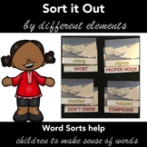 OLYMPIC WINTER GAMES - WORD SORT Activity