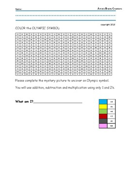 OLYMPICS: Mystery Color Pictures using Math