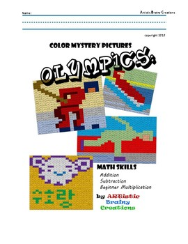 OLYMPICS: Mystery Color Pictures with MATH