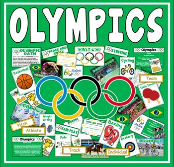 OLYMPICS TEACHING RESOURCES DISPLAY SPORTS GEOGRAPHY RIO 2016 PE KS1-2