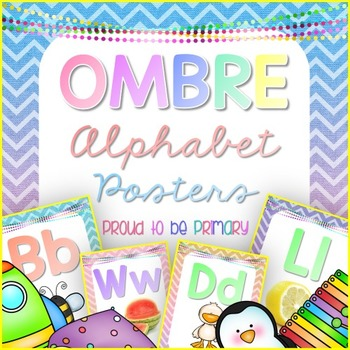 Alphabet Posters OMBRE