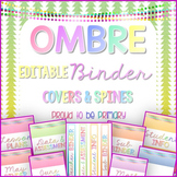Binder Covers and Spines OMBRE EDITABLE