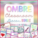 Classroom Decor Bundle OMBRE