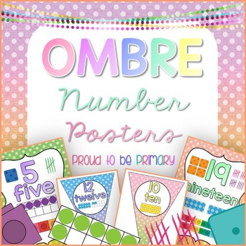 Number Posters OMBRE