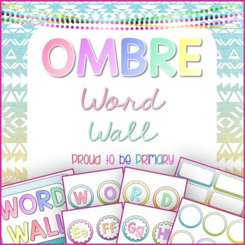 Word Wall OMBRE