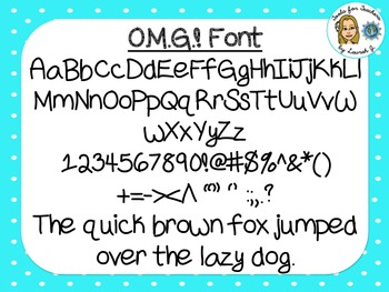 OMG! Font {True Type Font for personal and commercial use}